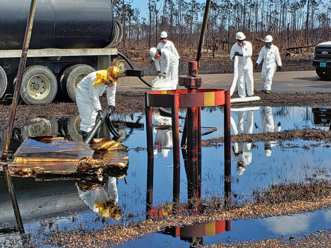 Equinor cleaning up after Bahamas oil spill